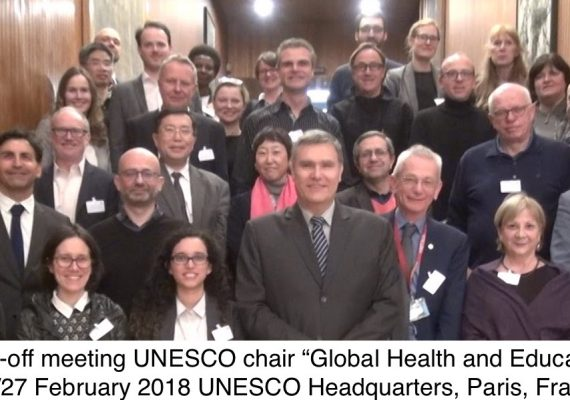 The kick-off meeting UNESCO chair 'Global Health & Education' was held in UNESCO headquarters in Paris