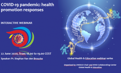 """Webinar """"Health Promotion Responses to the COVID-19 Pandemic"""" on 22 June 2020"""