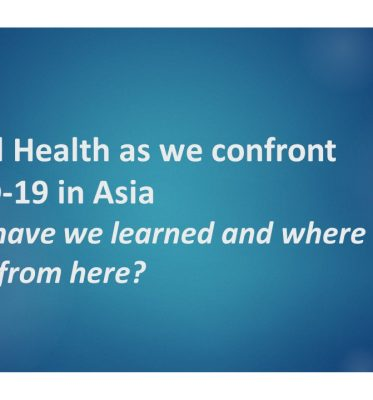 Symposium: School Health as we confront COVID-19 in Asia