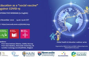 "Education as a ""social vaccine"" against COVID-19"