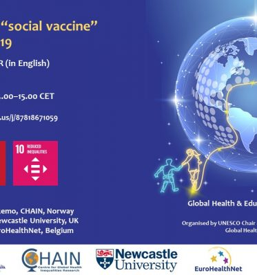 "Webinar: Education as a ""social vaccine"" against COVID-19"