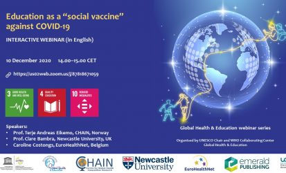 "Webinar: Education as a ""social vaccine"" against COVID-19"