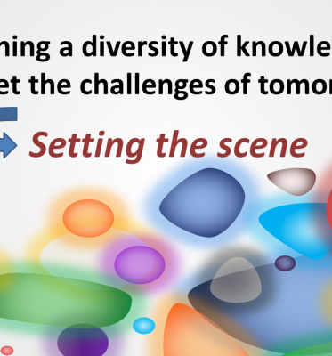 Workshop Combining a diversity of knowledge to meet the challenges of tomorrow