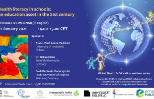 21 January 2021 – Webinar: Health literacy in schools: an education asset in the 21st century