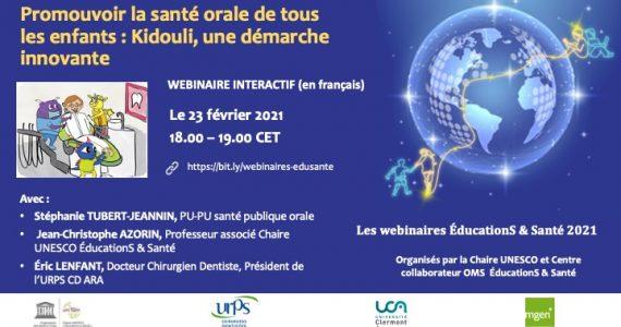 23 February 2021 – Promouvoir la santé orale de tous les enfants (Promoting the oral health of all children)