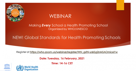 Webinar: Global Standards for Health Promoting Schools