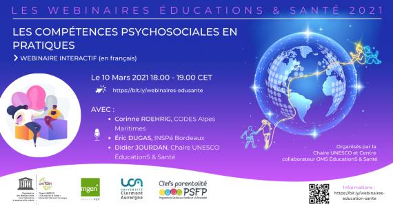 10 March 2021 – Les compétences psychosociales en pratiqueS (Psychosocial skills in practice)