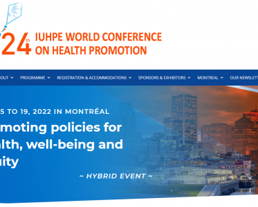 Registration 24th IUHPE World Conference on Health Promotion – IUHPE 2022 is open