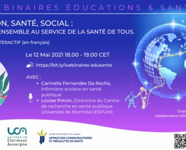 12 May 2021 – Éducation, santé, social : travailler ensemble au service de la santé de tous