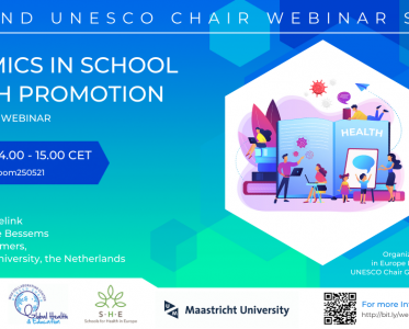 25 May 2021 – Dynamics in School Health Promotion