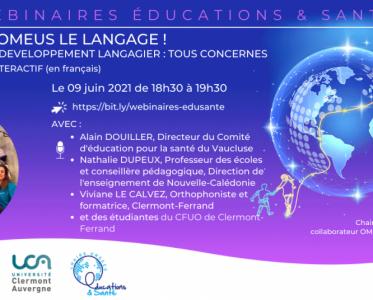 9 June 2021 – Je (te) promeus le langage! Agir pour le développement langagier: tous concernés