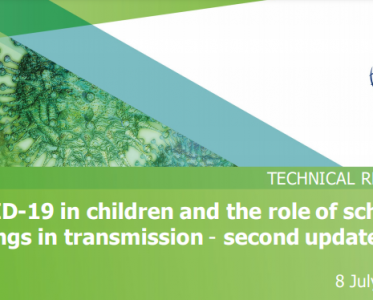 COVID-19 in children and the role of school settings in transmission – second update