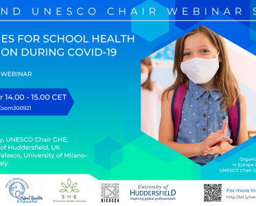 Webinar Strategies for School Health Promotion during COVID-19 – 30 September 2021